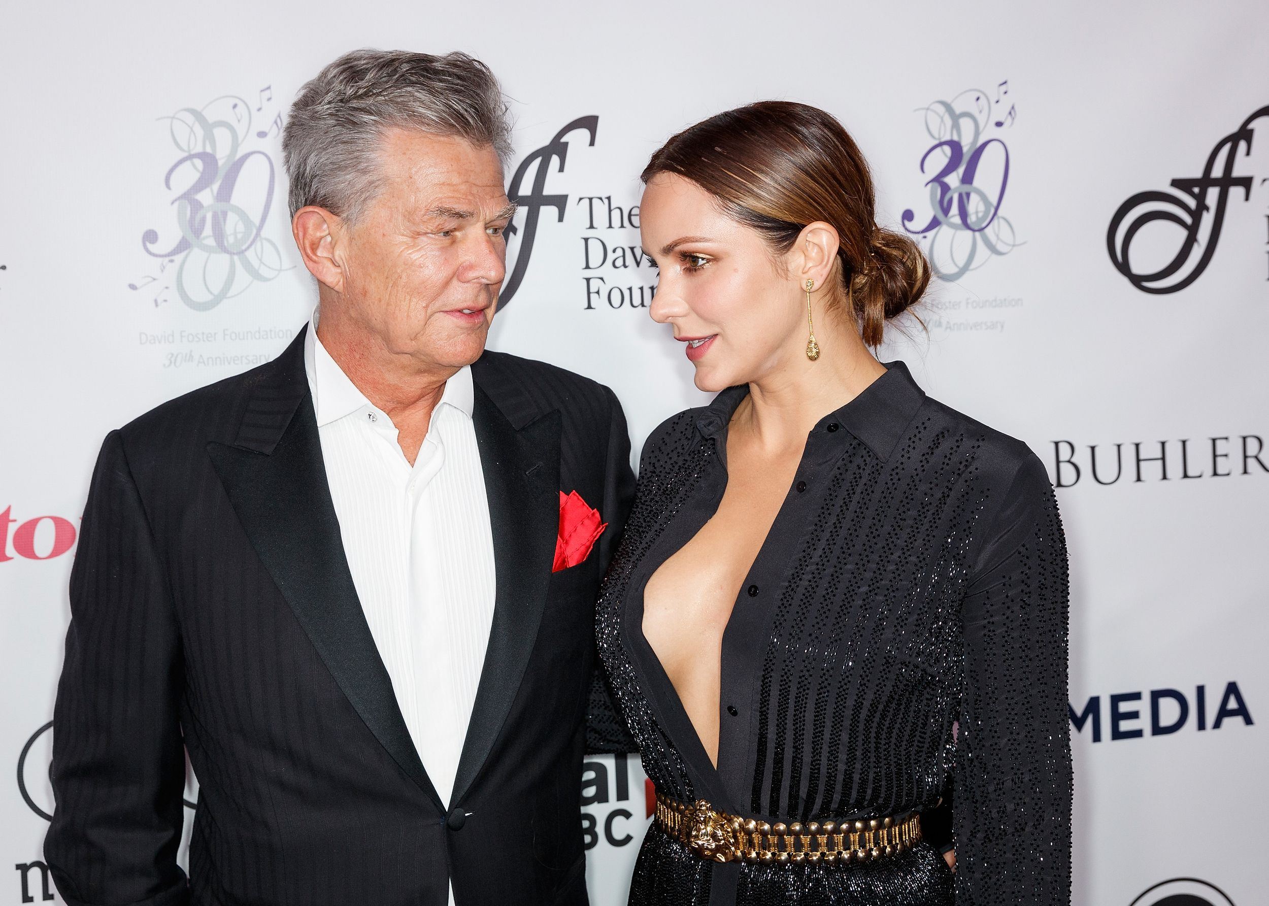 Katharine Mcphee And David Foster Confirmed Their Relationship At The Met Gala By Holding Hands Met Gala The Fosters Gala