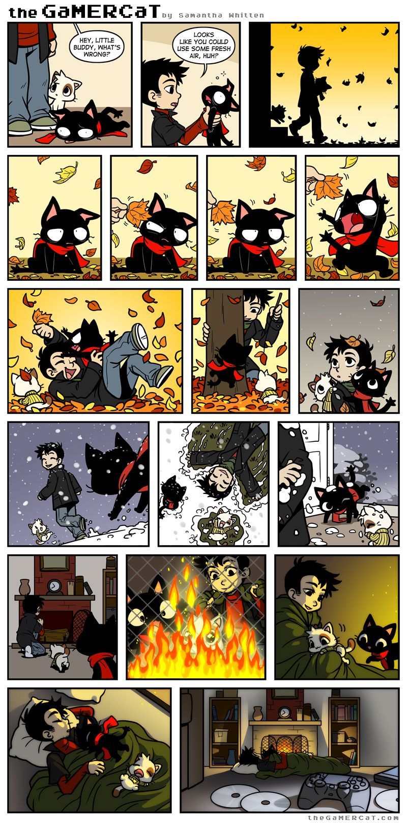 Letting Go Gamer Cat Fun Comics Cat Comics