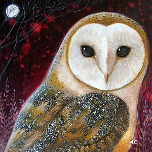 Owl Power Animal Art Print by Amanda Clark