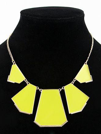 Yellow Collar Geometry Irregular Pendant Necklace