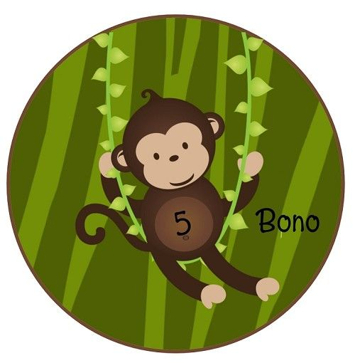 Personalized Swinging Monkey TShirt or Onesie