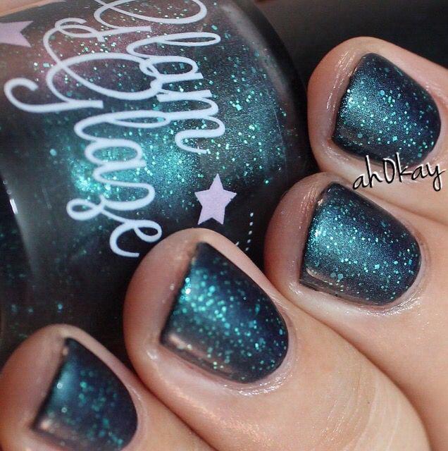 Glam Glaze - Dash (over a black polish)  Order at http://glamglaze.storenvy.com