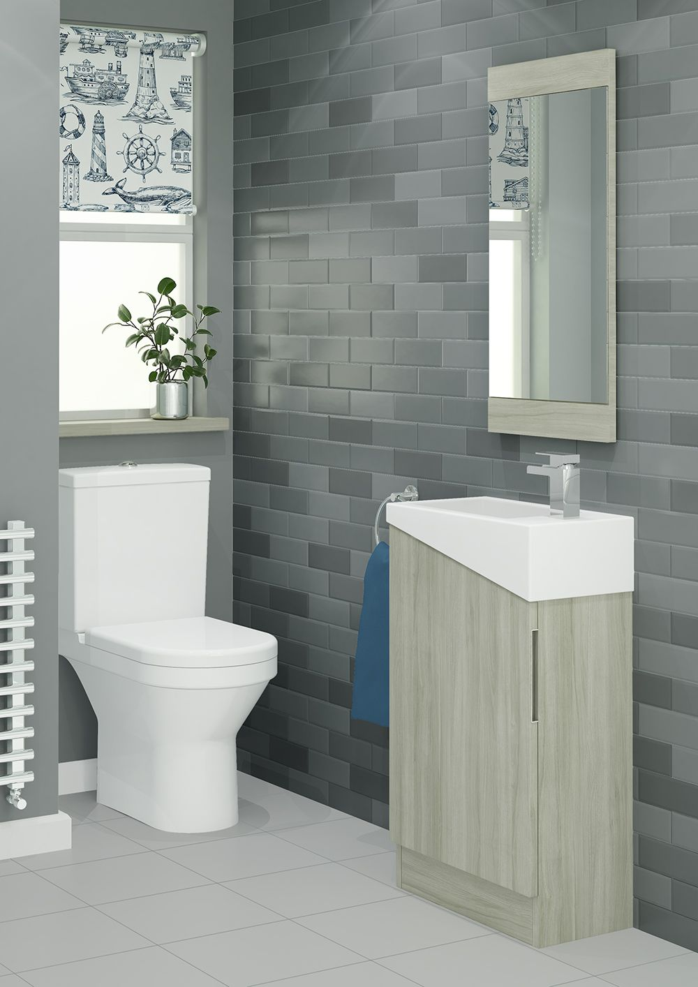 A Space Saving But Stylish Unit Like Scale Is Perfect For Cloakrooms Or En Suites The Unique Design Of Modular Bathrooms Cloakroom Vanity Unit Bathroom Units