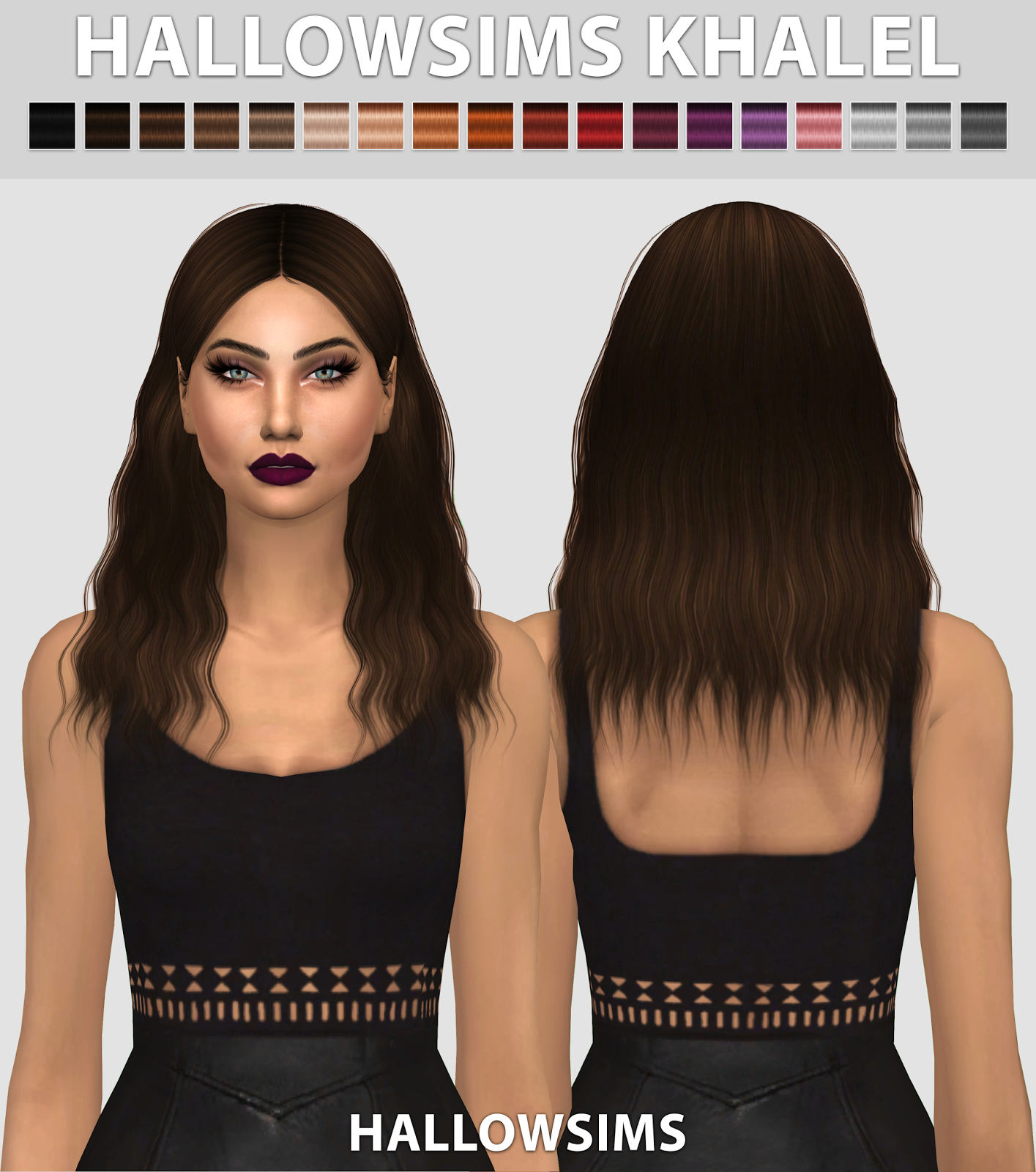 HallowSims Khalel HallowSims Cheveux sims, Sims, Sims