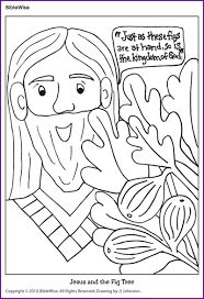 Children S Activities For The Parable Of The Fig Tree Google Search Coloring Books Fig Tree Tree Coloring Page