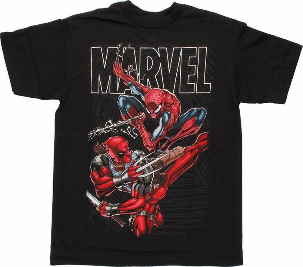 Deadpool SpiderMan Marvel TShirt Youth Size Large X