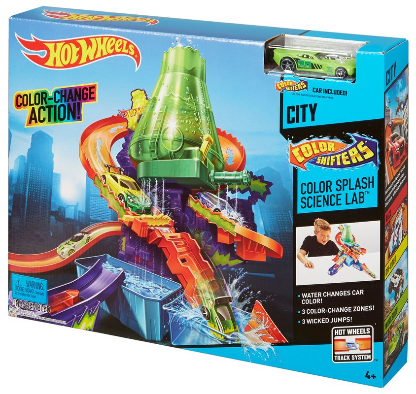 Hot Wheels Color Shifters Color Splash Science Lab Play