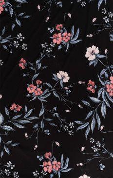 Bridesmaids Fabric Swatch Gwsxmumu Wedding Soiree Floral Black Flowers Wallpaper Cellphone Wallpaper Pattern Wallpaper