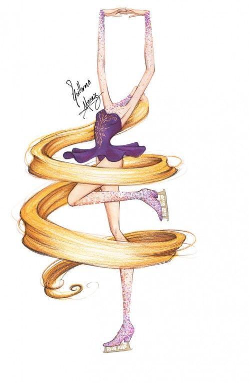 Princesas Disney Patinando No Gelo Rapunzel Tangled And Disney Art