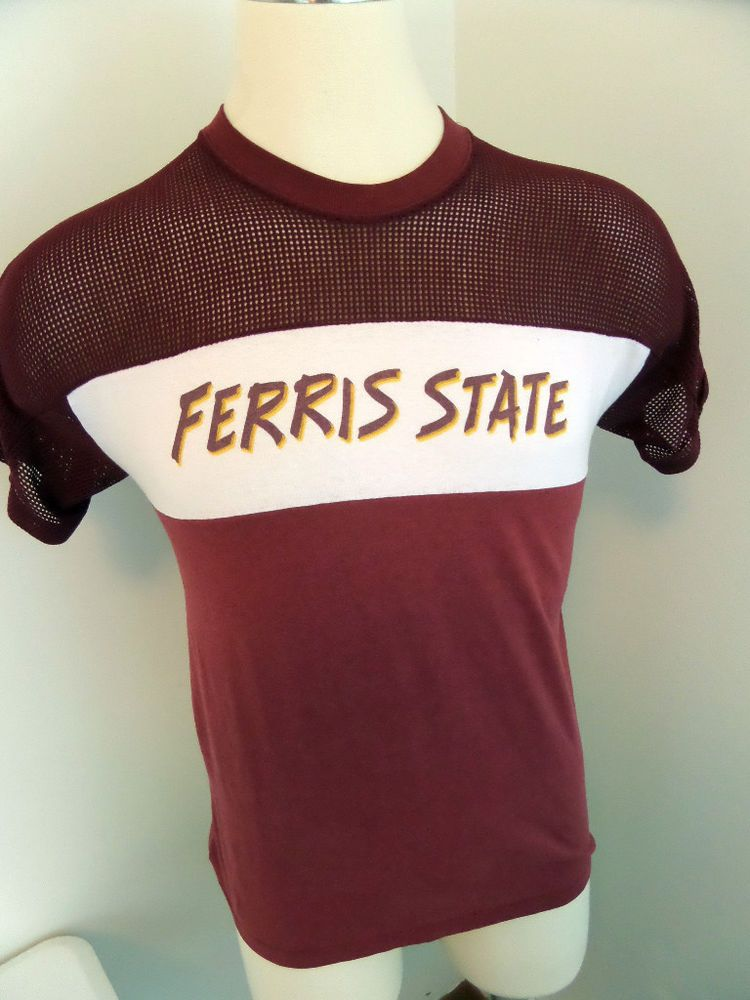 Vintage 80's Ferris State University Bulldogs Mesh Muscle