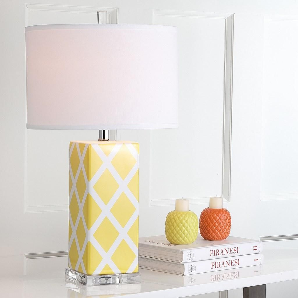 Forever Plaid Takes On New Meaning With The Garden Lattice Table Lamp By  Safavieh. Crafted