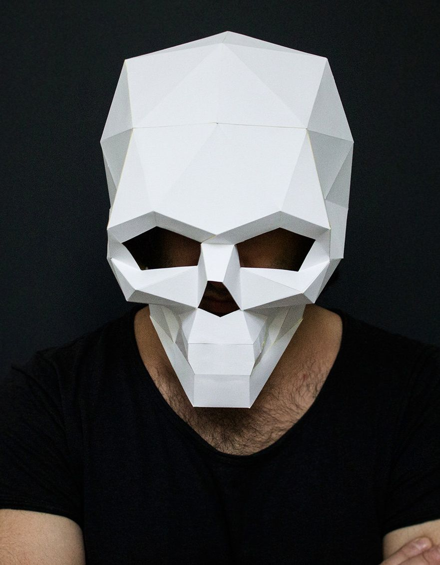 DIY Skull Mask Mas