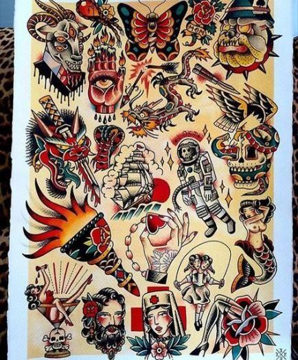 Tattoo old school traditional flash art 24+ Ideas