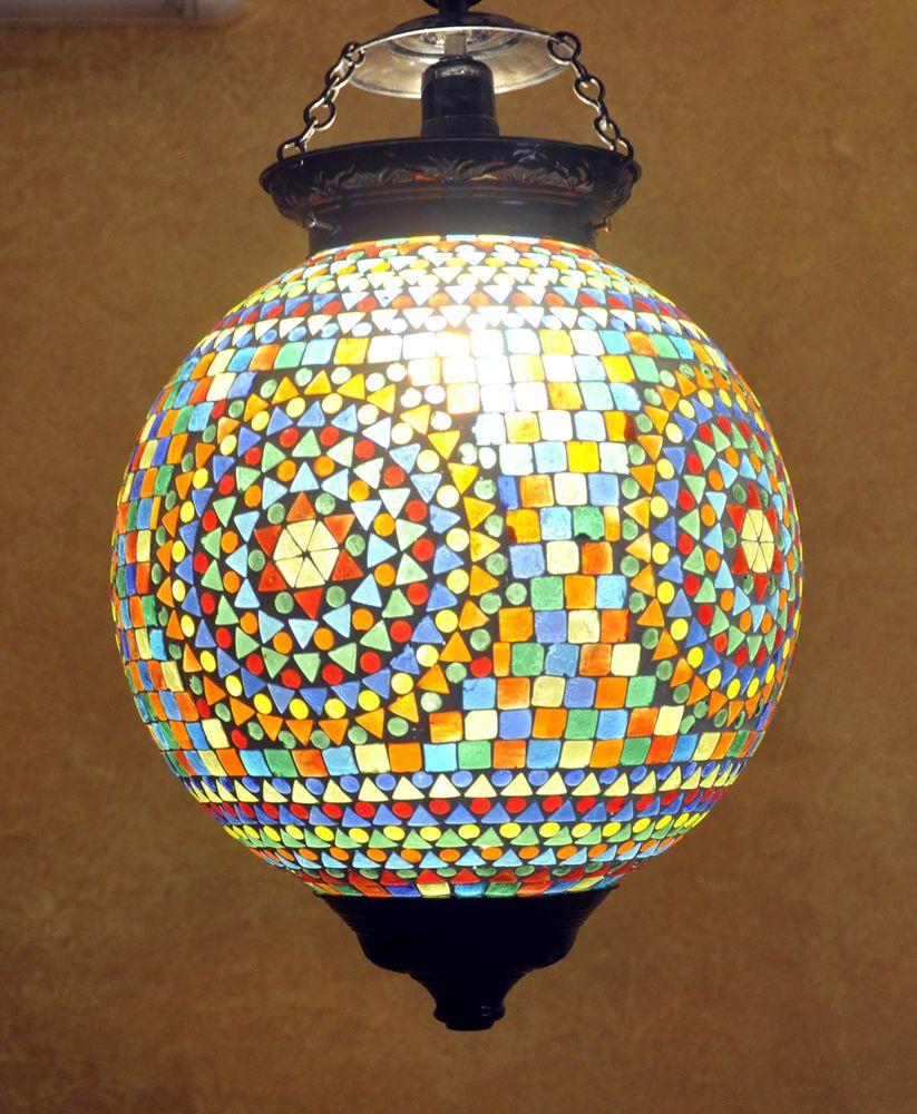 Designer Indian Home Decorative Glass Ceiling Lamp