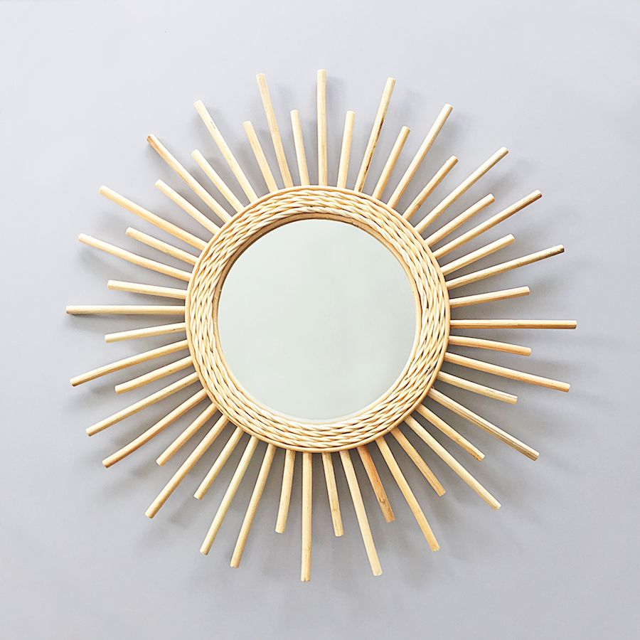 Bamboo and rattan mirror - Sandra