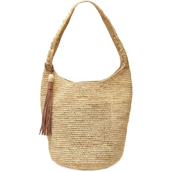 Mar Y Sol Augusta Raffia Shoulder Bag Cream Tan 75 Liked