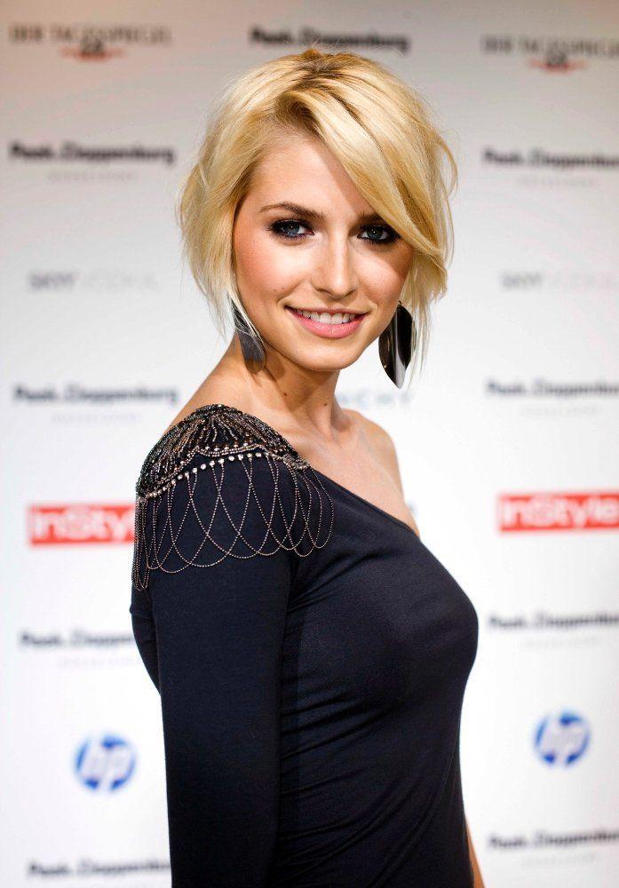 Lena Gercke Short Hair Lena Gercke Frisur Kurze Blonde