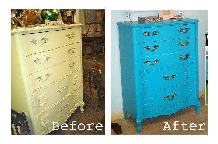 shabby chic dresser: semi-gloss paint finish   Shabby chic ...