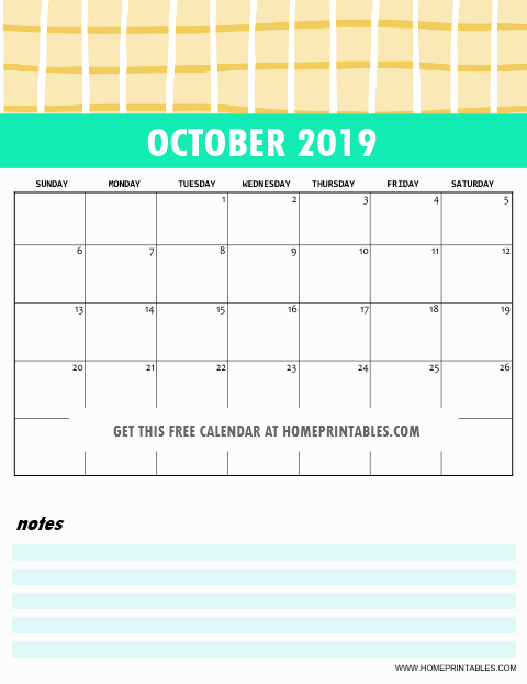 Free 2019 Monthly Calendar Printable Cute And Colorful Free