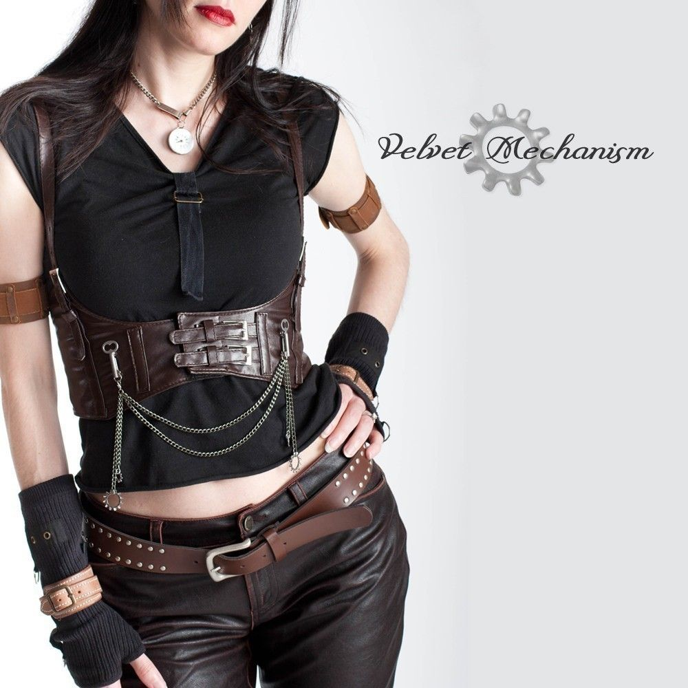 Steampunk Chest Harness Wire Center 15 Million X High Gain 8220transistor8221 Brown Faux Leather Underbust Bodice With Silver Rh Pinterest Ca Dark Clothing