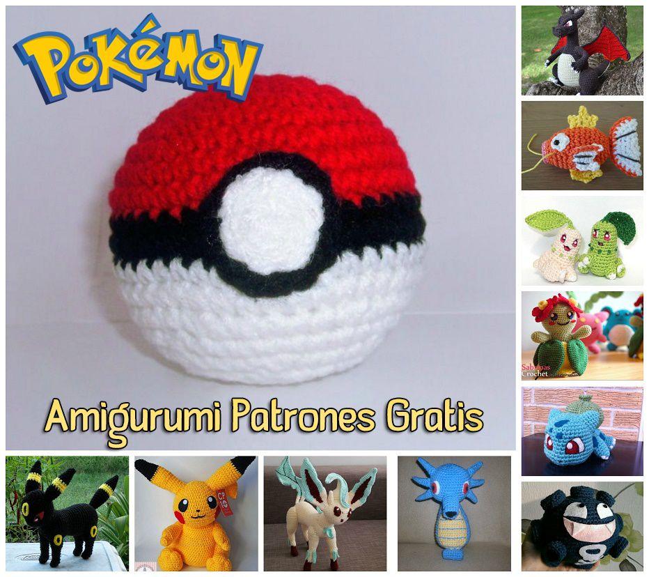 pokemon amigurumi | pokemon | Pinterest | Patrones amigurumi, Arte ...