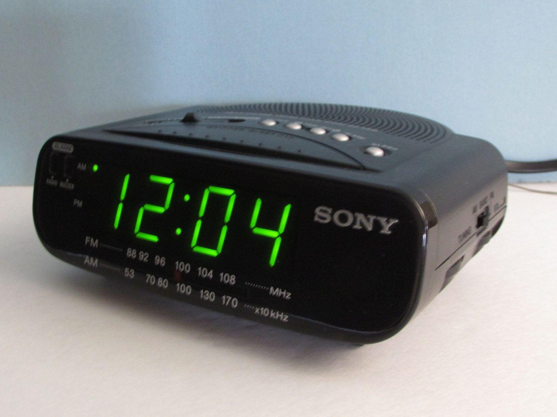 black sony dream machine icf c212 am fm alarm clock radio model oval sony alarm clock radio. Black Bedroom Furniture Sets. Home Design Ideas