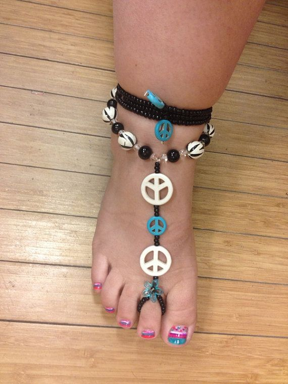 SOLD! I may be able to make something similar just ask! Barefoot Sandals by YumaDesertFairy on Etsy, $30.00