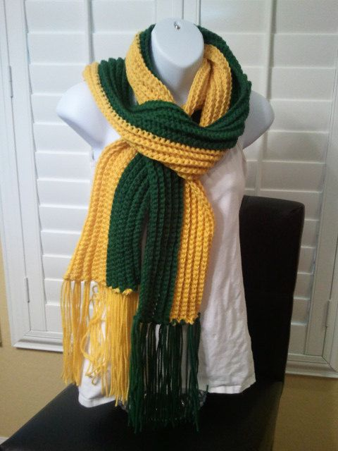 Football Scarf - Greenbay Packer Colors | Greenbay packers ...
