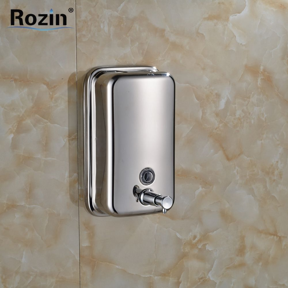 Free Shipping Chrome Stainless Steel Wall Mounted Shower Soap Dispenser Bathroom Soap Box Shower Soap Dispenser Bathroom Soap Dispenser Bathroom Soap