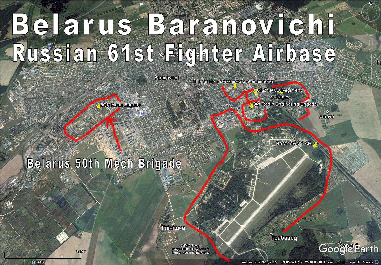 Russia Map Airports%0A Russian Fighter AB in Belarus  Baranovichi  Lots of sub units  ie MVD for  security etc   Whole city is a major railroad hub and has also heavy  Belarus