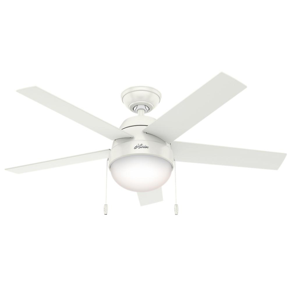 Hunter anslee 46 in indoor fresh white ceiling fan with light hunter anslee 46 in indoor fresh white ceiling fan with light aloadofball Image collections