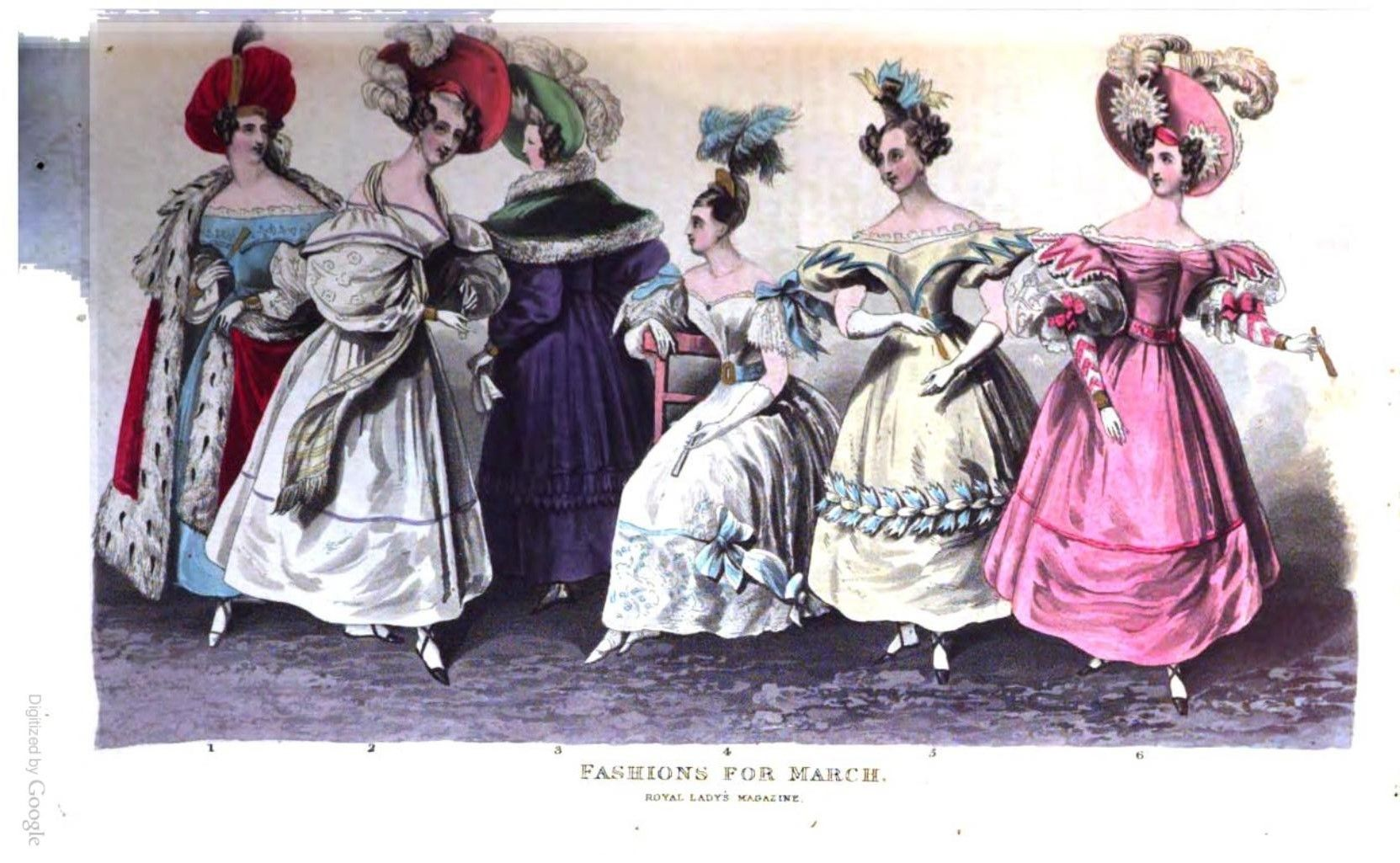 1831 Fashion The Royal Lady's magazine, and archives of the court of St. James's 1830s Fashion