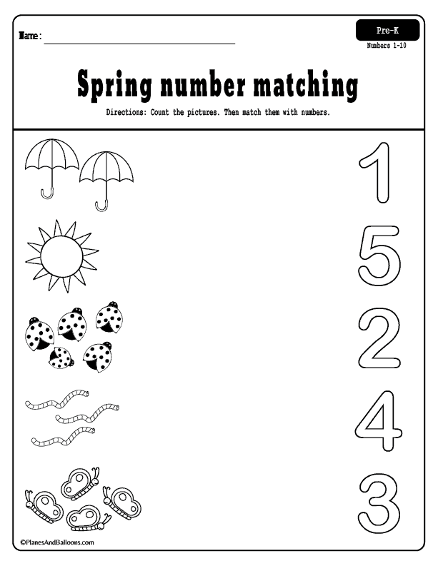 Spring preschool worksheets printable pack Printable