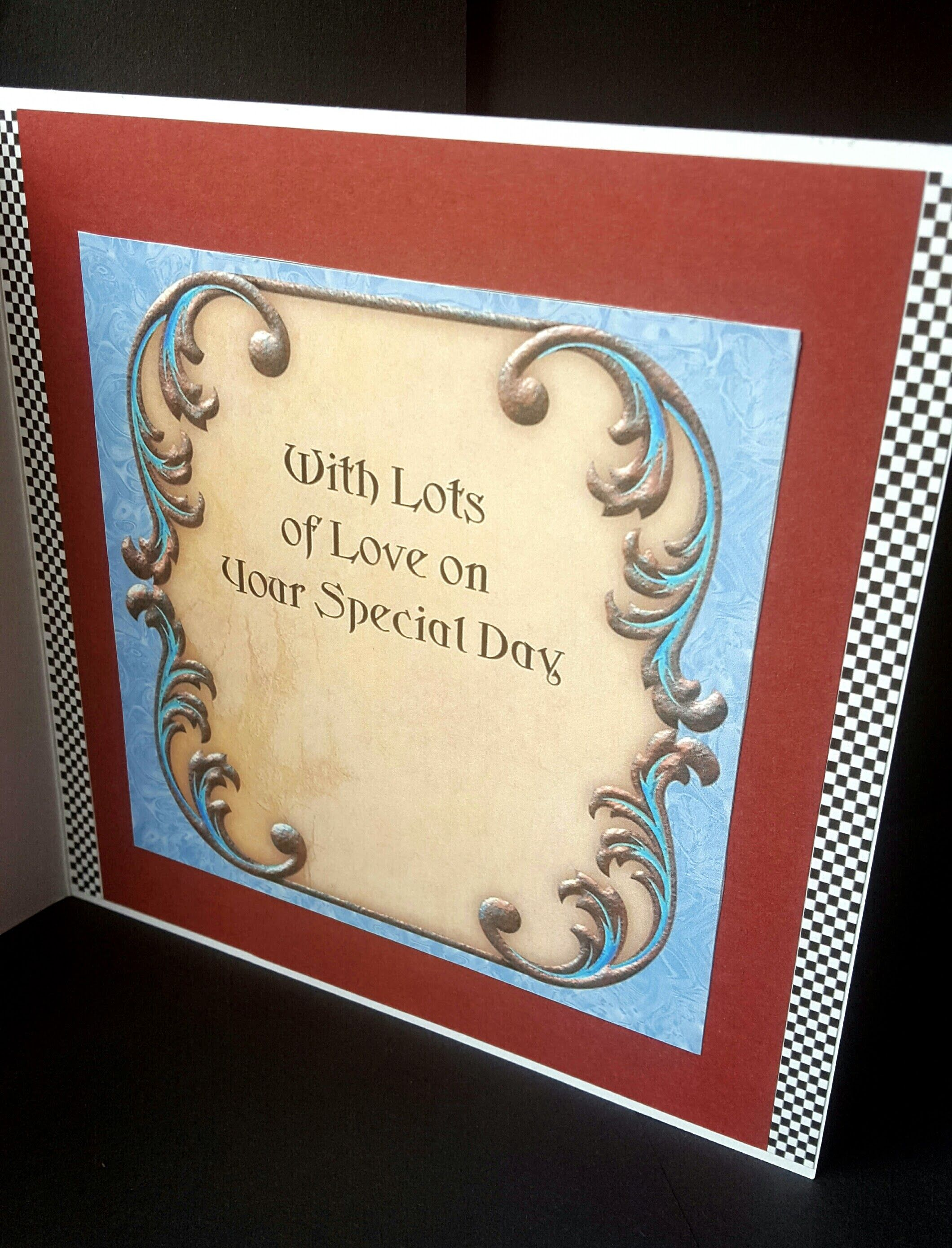 F1 60th Birthday Card Male Female Ferrari Inside Handmade By