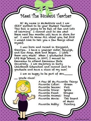 Meet The Student Teacher Letter By Lorieanderson  Gardening