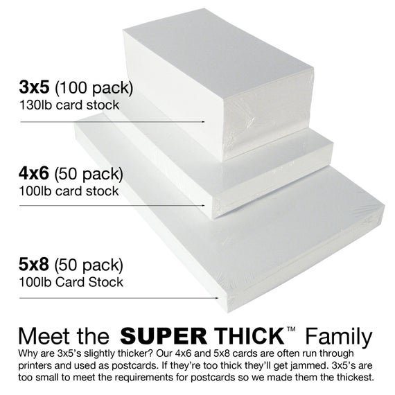 4x6 Super Thick Index Cards 100 Pack Blank Heavyweight Card Stock Flash Cards Post Cards Inside In 2021 Note Card Template Card Template Card Templates Printable