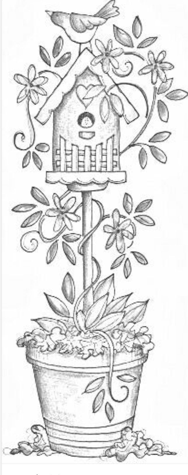 Free Coloring Pages Bird Houses. Birdhouse  Stencil l Pinterest Adult coloring and Embroidery
