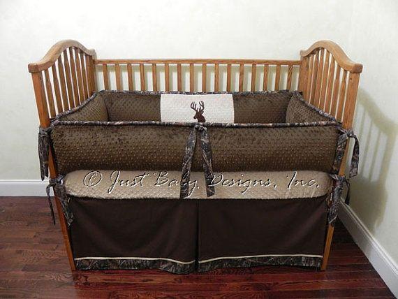 custom baby crib bedding set paxton - boy baby bedding, deer crib