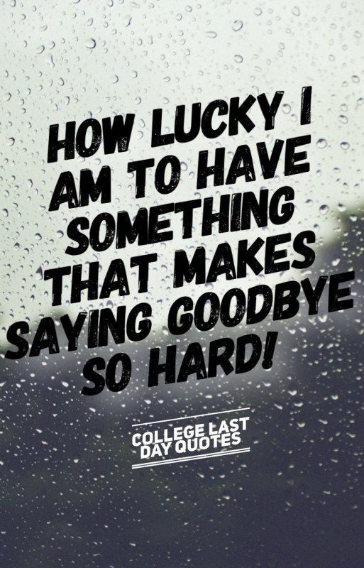 College Quotes New College Last Day Quotes That Will Make You Cry  Pinterest