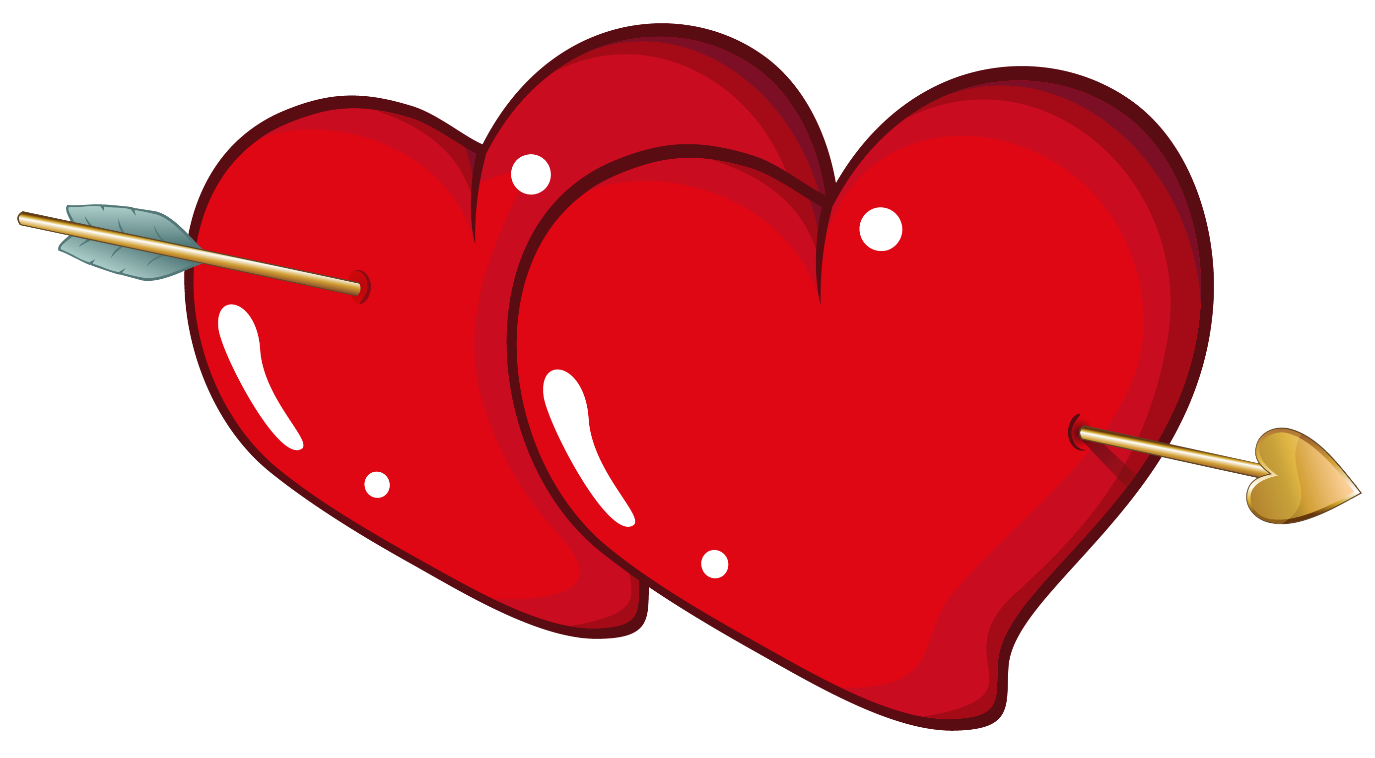 Valentine Hearts With Arrow Png Clipart Picture Gallery Yopriceville High Quality Images And Transparent P Heart With Arrow Valentine Heart Heart Pictures