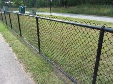 Engrossing Lowes Black Vinyl Chain Link Fence and black chain link ...