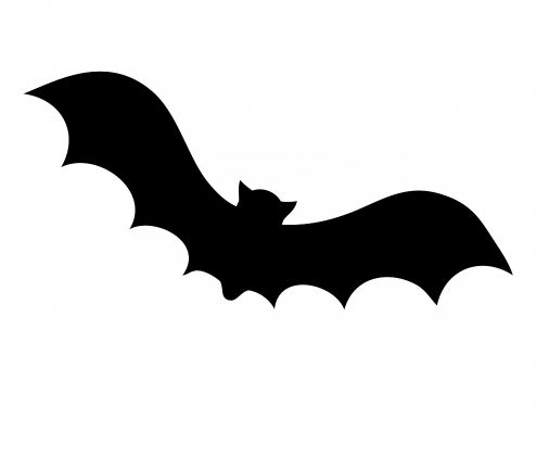 bat silhouette template bat upside down stock images royalty free