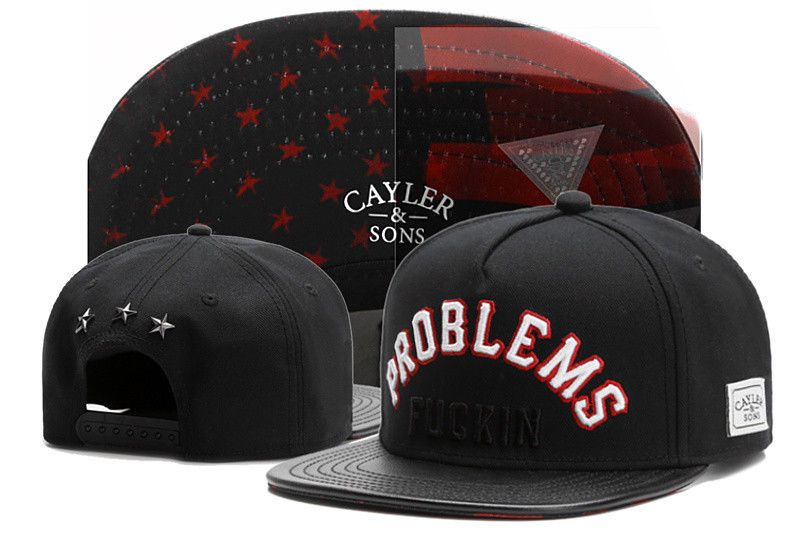 Hot Hip Hop Men's Cayler Sons Hat Adjustable Baseball Snapback Black