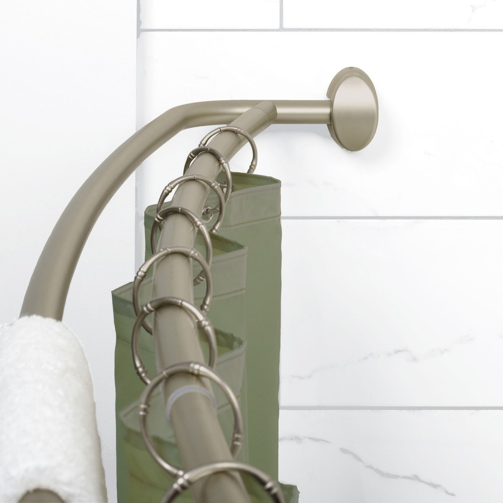 Zenith E35604bn Double Curved Shower Rod Shower Rod Shower