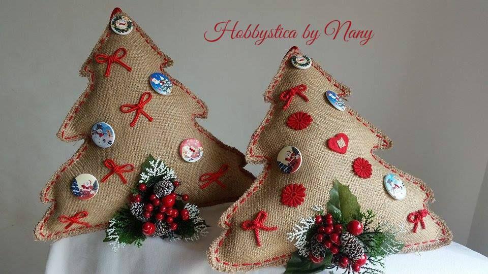 https://www.facebook.com/Hobbystica/  #Christmastree #alberijuta #fuoriportanatalizi #lemaddine #handmade #Christmas @lemaddine