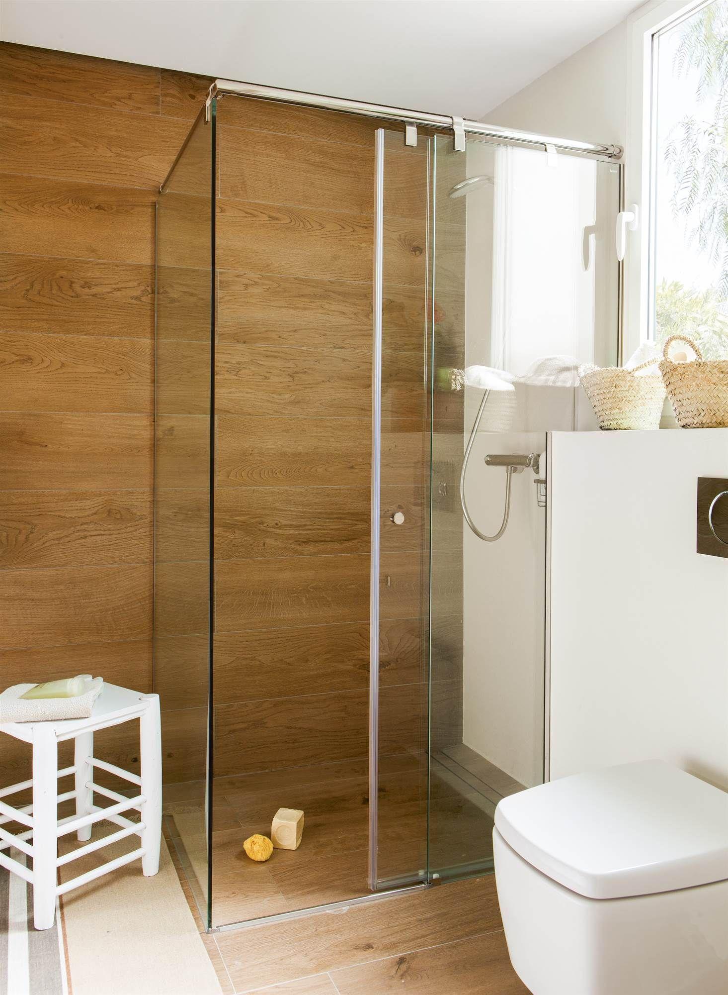 Ducha de madera interiors en 2019 duchas con mampara - Modelos de banos y duchas ...