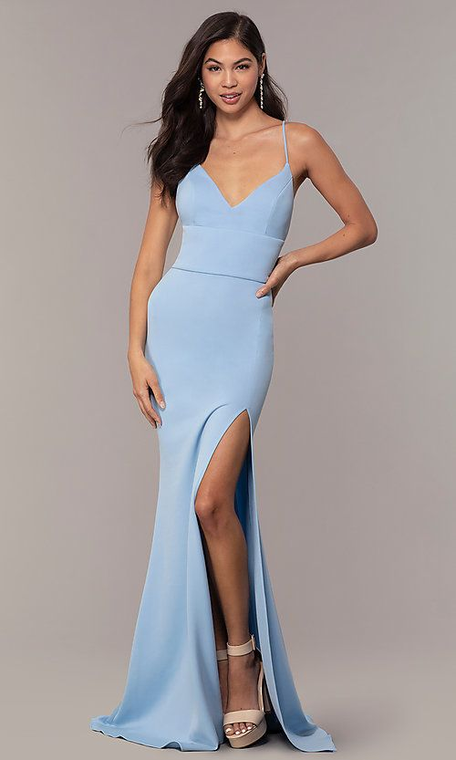 b2c364684f67 Image of backless corset JVNX by Jovani long prom dress. Style:  JO-JVNX66729 Front Image
