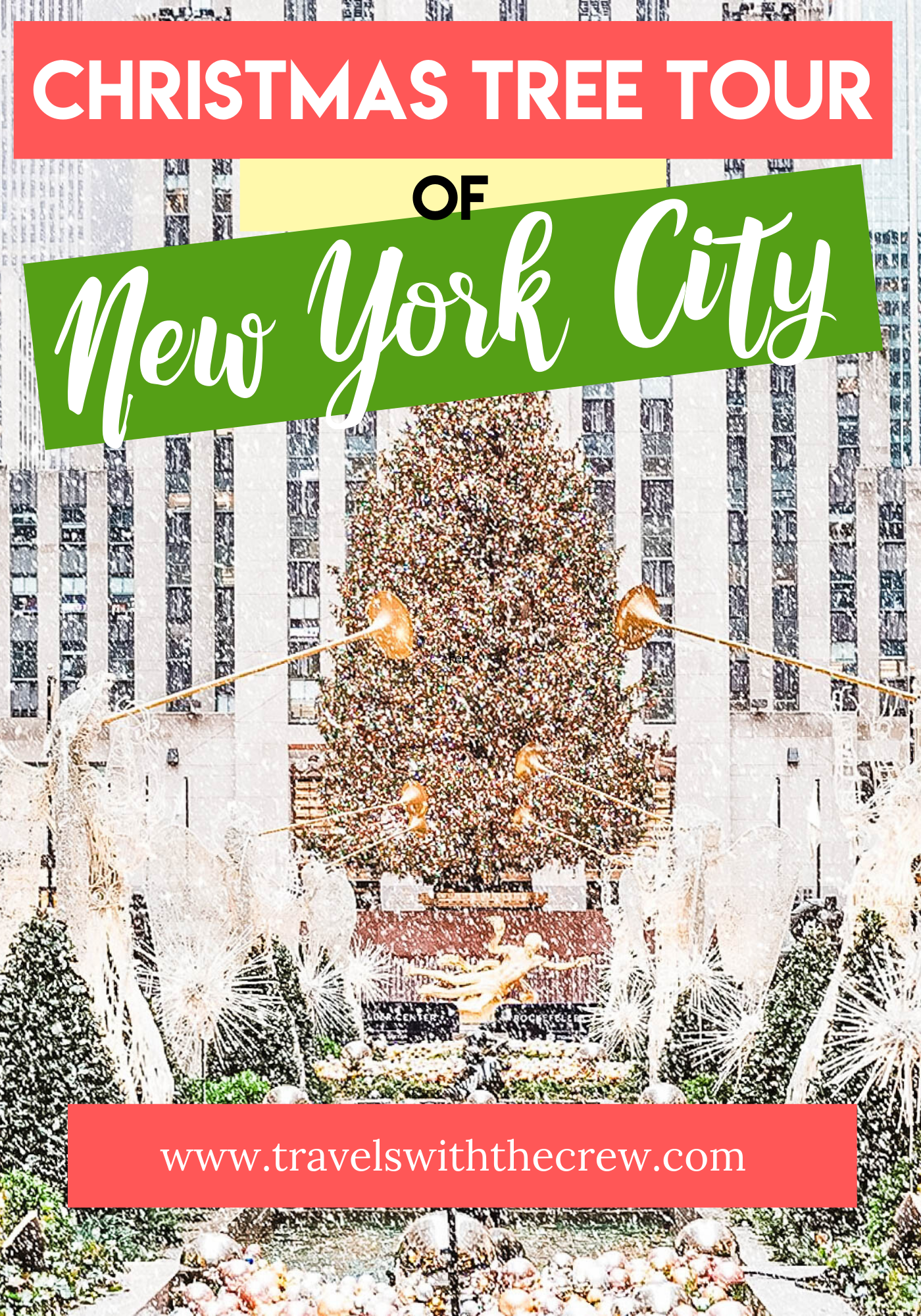 Free Printable Map of the best Christmas trees in New York City. Enjoy the beautiful decorations and enjoy free holiday cheer. #Christmasinnyc #NYC #Christmastree #CheapNYC