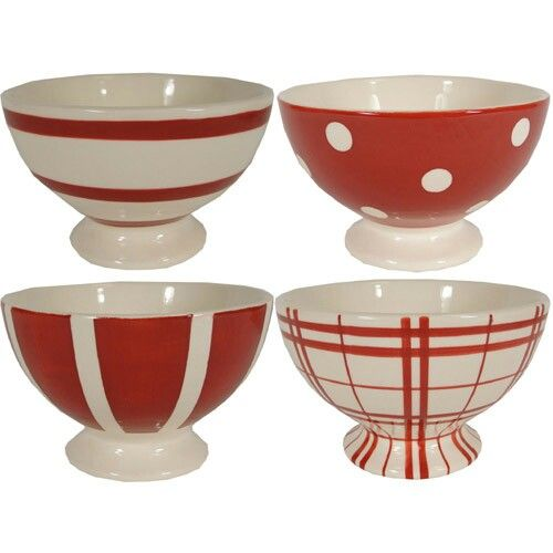 Red And White Bowls From Kiss That Frog Love Em Bowl White
