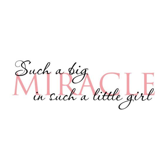 Miracle Baby Quotes: Baby Girl Wall Decal, Such A Big Miracle In Such A Tiny